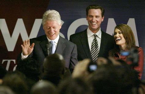newsom gavin guilfoyle kimberly san bill mayor maloney wife clinton michael campaign workers franciscans pick final ready chronicle stopped former