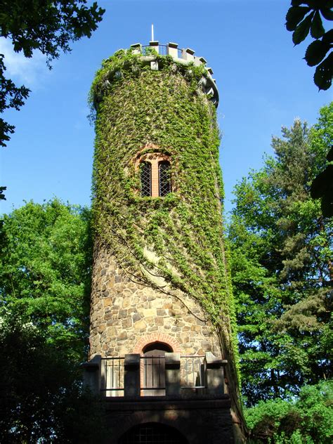 tower overgrown  green ivy germany  image