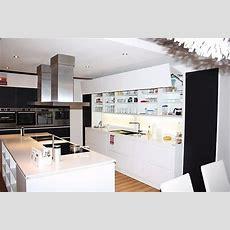 Alnomusterküche Exklusive Grifflose Küche Mit Quarzstein