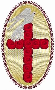 Free Christmas Machine Embroidery Designs Red Rose Cross Dove Embroidery Design