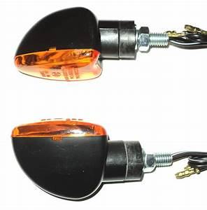 4x Amber Indicator Turn Signal Scooter Bike Pocket 6v 6