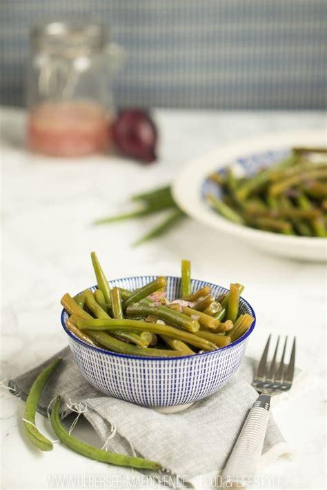 klassischer knackiger bohnensalat rezept bohnensalat