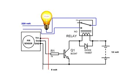 Wiring Diagram For Auto Light Switch by Automatic Light Motion Activated Switch Circuit