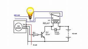 Automatic Night Light Motion Activated Switch Circuit