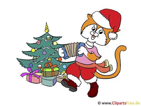 illustration katze mit weihnachtsbaum
