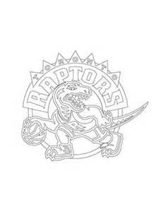 toronto raptors logo coloring page  printable