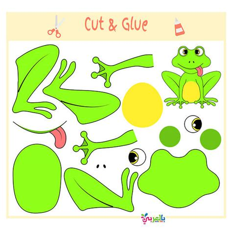 printable puzzle game  kids printable cut  glue