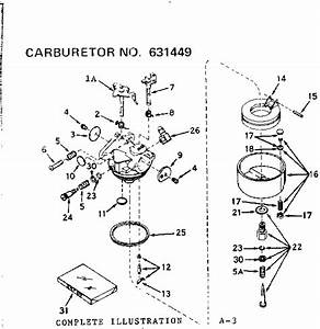Carburetor Diagram  U0026 Parts List For Model 502256030
