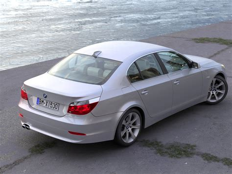 Modifikasi Bmw 5 Series Sedan by Bmw E60 5 Series Sedan 2006 3d Model