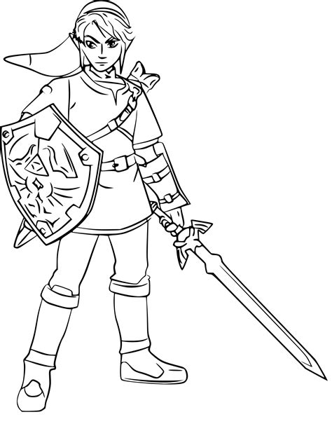 Legend Of Zelda Breath Of The Wild Coloring Pages Shield