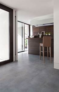 Linoleum vloer betonlook