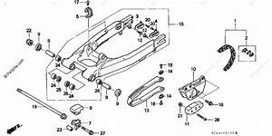 Honda Motorcycle 2004 Oem Parts Diagram For Swingarm
