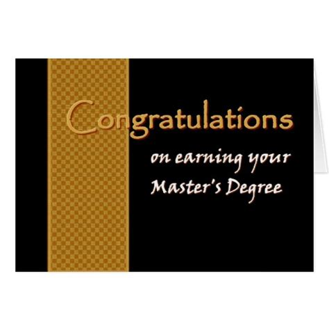 How Do You Write Your Master S Degree On Your Resume by Custom Name Congratulations Master S Degree Card Zazzle
