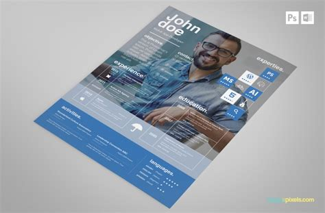 free creative psd resume template premium ms word resume