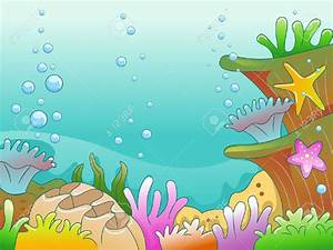 Illustration Of Underwater Scene Stock Photo, Picture And ...