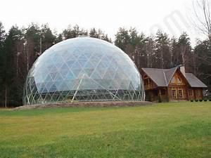 Pyramid of Merkinė @ Glass Geodesic Dome Ø23m, Merkine ...