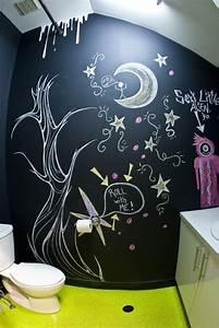 77 idees creatives pour faire un tableau noir en peinture With salle de bain design avec tableau acoustique décoratif