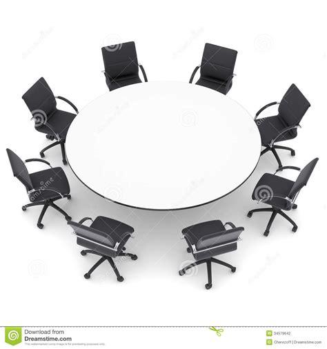 chaises de bureau et table ronde photographie stock image 34579642