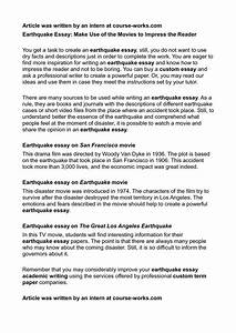 Calaméo - Earthquake Essay: Make Use of the Movies to ...