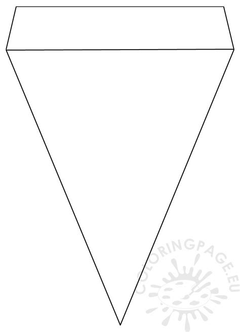 printable pennant banner template coloring page