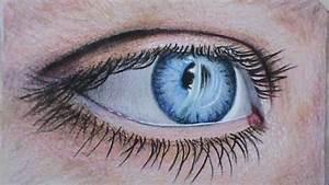 Dessin Facile Yeux : dessiner l 39 oeil crayons couleurs rapide video yeux dessin artist demonstration youtube ~ Melissatoandfro.com Idées de Décoration