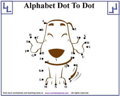 alphabet dot  dot puzzles