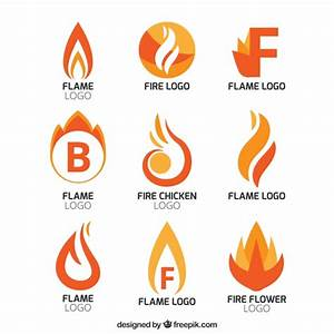 Collection of abstract flame logos Vector | Free Download