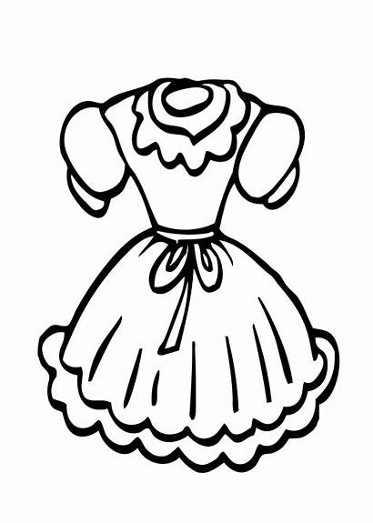 Coloring Pages Doll Printable Clothes Clothing Dresses