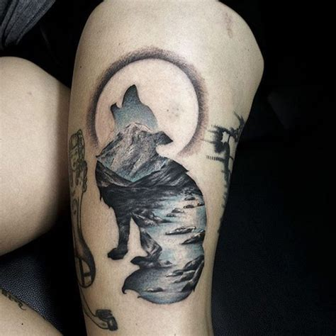 beautiful surrealist double exposure tattoos mash