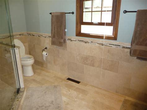 travertine bathroom tile ideas travertine tile modern bathroom cleveland by