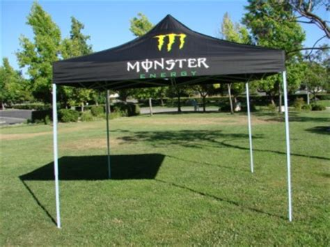 outdoor black monster energy pop  gazebo ez canopytent black size ft  ft ebay