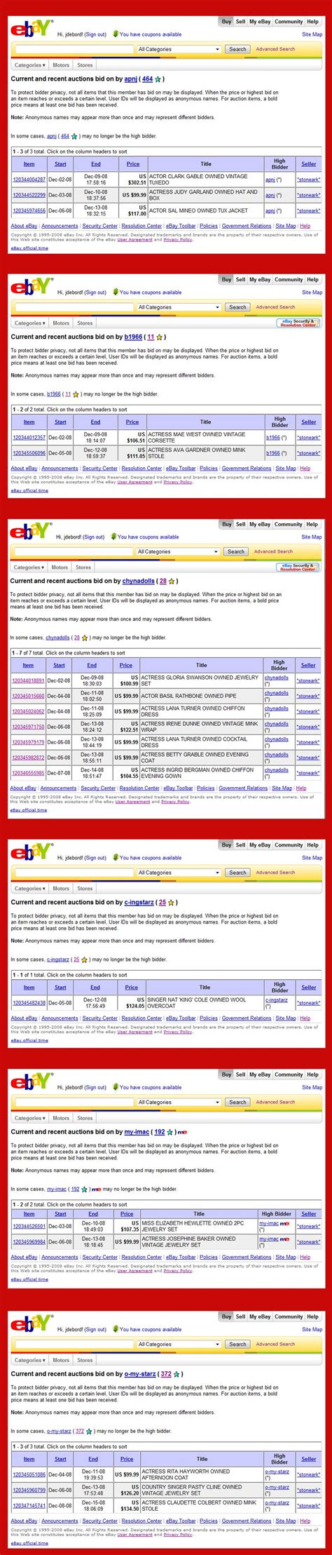 ebay bid ebay s stoneark buyer bidder network analysis part 1