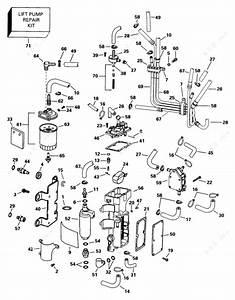Evinrude 1998 150 - E150ilecr  Fuel Components