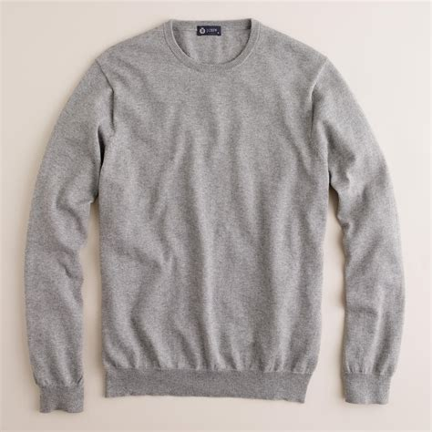 crewneck sweater j crew cotton crewneck sweater in gray for