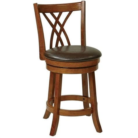 metro 24 quot wood swivel counter stool in oak met2324 es