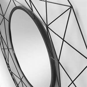 Miroir Metal Noir : miroir rond graphique en m tal noir graph ~ Teatrodelosmanantiales.com Idées de Décoration