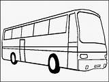 Bus Coloring Pages Print Transportation Realistic sketch template