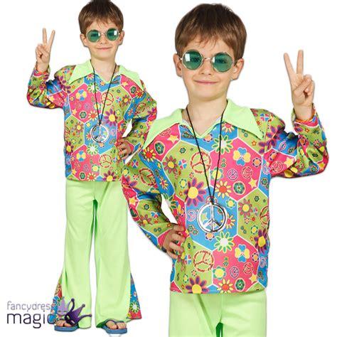Childs Boys Hippie Hippy 60s 70s Flower Power Peace Fancy ...