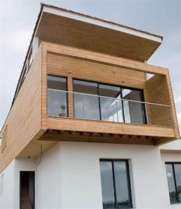 Fenetre Alu Noir : maison bois moderne menuiseries alu noir partner ~ Edinachiropracticcenter.com Idées de Décoration