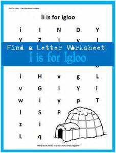 Find Letter I Preschool Worksheets
