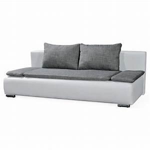 Schlafcouch Weiß Grau : schlafcouch schlafsofa couch sofa in weiss grau 2 sitzer 200 cm breit neu ebay ~ Markanthonyermac.com Haus und Dekorationen