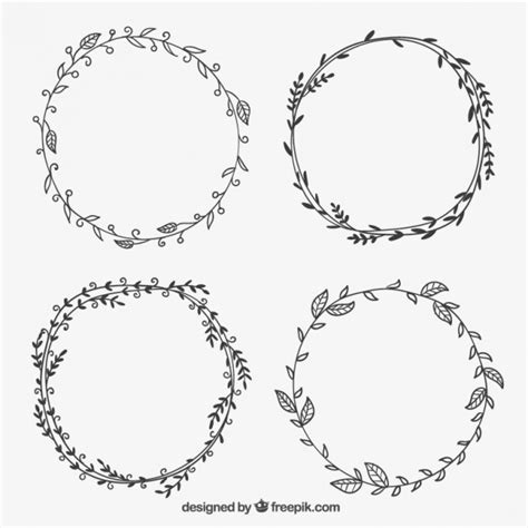 framing leaves hand drawn leaves frames vector free download