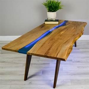 Table Resine Bois : river resin elm coffee table on walnut base by frances bradley ~ Teatrodelosmanantiales.com Idées de Décoration