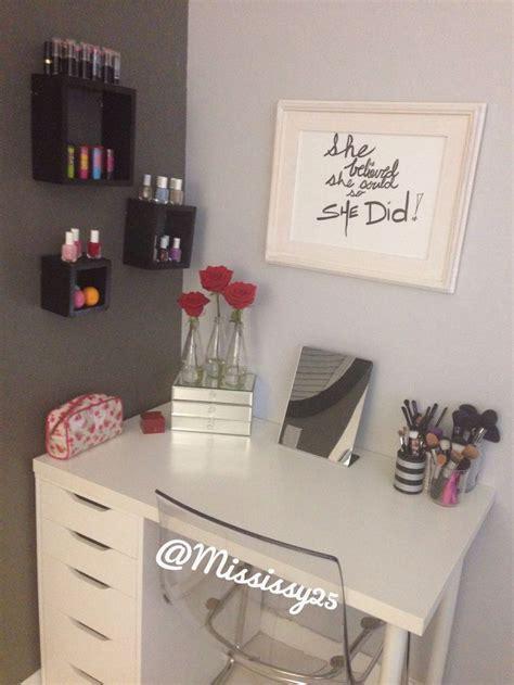 makeup desk ikea alex 25 best ideas about ikea makeup vanity on