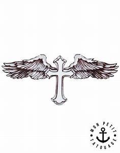 Croix Tatouage Homme : tatouage croix ailes d 39 ange de beckham mon petit tatouage temporaire ~ Dallasstarsshop.com Idées de Décoration