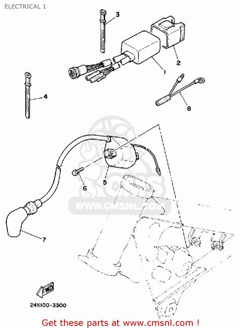 yamaha yz125 offroad 1984 e usa electrical 1 buy original electrical 1 spares