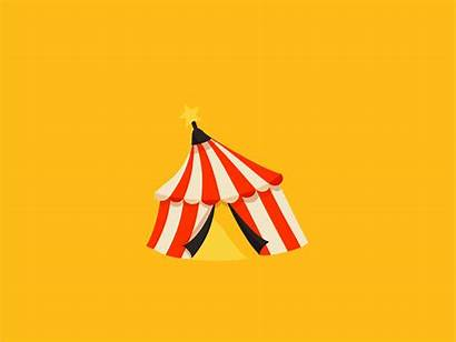 Circus Tent Crazy Graphic Animation 2d Dribbble