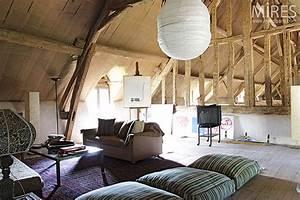 Deco Maison Avec Poutre : deco salon avec poutres apparentes ~ Zukunftsfamilie.com Idées de Décoration
