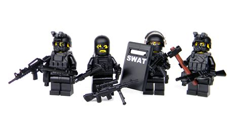 Swat Team Police Officer Tactical Unit (sku53) Made With