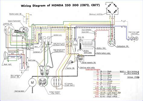 cb72 77 c ca72 77 wiring diagrams in colour